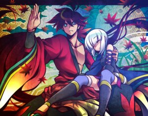 Rating: Safe Score: 30 Tags: japanese_clothes katanagatari thighhighs togame uousa yasuri_shichika User: 23yAyuMe