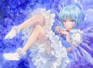 Rating: Safe Score: 10 Tags: bloomers cirno dress misawa_hiroshi touhou wings User: Radioactive