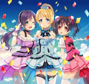 Rating: Safe Score: 34 Tags: ayase_eli dress love_live! miu91 see_through thighhighs toujou_nozomi yazawa_nico User: Mr_GT