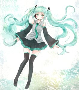Rating: Safe Score: 23 Tags: hatsune_miku tattoo thighhighs tsukiyo_(skymint) vocaloid User: KazukiNanako