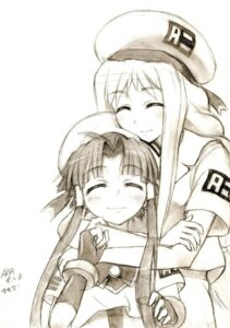 Rating: Safe Score: 9 Tags: alicia_florence aria kisetsu mizunashi_akari monochrome sketch User: charunetra