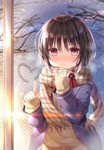 Rating: Safe Score: 32 Tags: kiginu_yuu seifuku shikitani_asuka sweater valentine User: Innominate