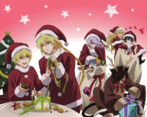 Rating: Safe Score: 5 Tags: cheshire_cat christmas gilbert_nightray jack_vessalius male overfiltered oz_vessalius pandora_hearts reim_lunettes vincent_nightray xerxes_break User: alimilena