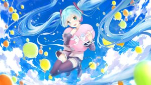 Rating: Safe Score: 32 Tags: hatsune_miku headphones minamito thighhighs vocaloid wallpaper User: Mr_GT