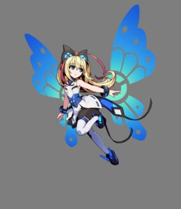Rating: Safe Score: 25 Tags: azure_striker_gunvolt dress joule tagme thighhighs transparent_png wings User: Radioactive