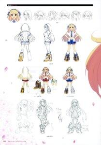 Rating: Safe Score: 7 Tags: character_design heels katsuragi no_bra open_shirt seifuku senran_kagura yaegashi_nan User: kiyoe