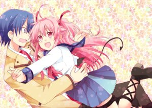Rating: Safe Score: 15 Tags: angel_beats! hinata_(angel_beats!) kousetsu seifuku tail yui_(angel_beats!) User: fairyren