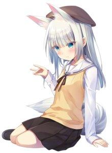 Rating: Safe Score: 25 Tags: animal_ears kitsune na-ga seifuku sweater tail User: edogawaconan