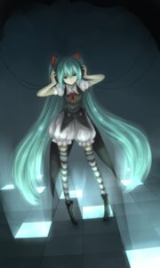 Rating: Safe Score: 8 Tags: dsakuraff hatsune_miku headphones thighhighs vocaloid User: charunetra