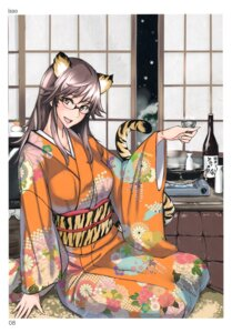Rating: Safe Score: 21 Tags: animal_ears isao kimono megane sake tail toranoana User: abcdefh