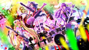 Rating: Safe Score: 40 Tags: animal_ears bloomers bunny_ears chuchu_(show_by_rock!!) cyan_(show_by_rock!!) guitar megane moa_(show_by_rock!!) nekomimi retoree_(show_by_rock!!) show_by_rock!! swordsouls tail thighhighs User: Mr_GT