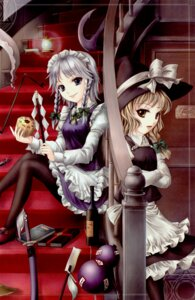 Rating: Safe Score: 6 Tags: izayoi_sakuya kirisame_marisa pantyhose touhou vita_(circle) witch yuki_shuuka User: Radioactive