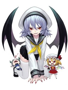Rating: Safe Score: 23 Tags: blood chibi flandre_scarlet izayoi_sakuya maid remilia_scarlet seifuku thighhighs touhou wings zengxianxin User: Mr_GT