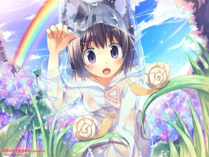 Rating: Questionable Score: 40 Tags: animal_ears erect_nipples galge.com nekomimi see_through sou wallpaper wet_clothes User: blooregardo