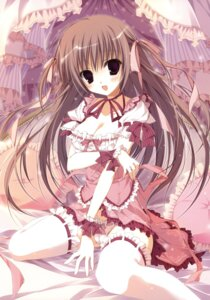 Rating: Questionable Score: 70 Tags: cameltoe cleavage garter inugami_kira lolita_fashion pantsu thighhighs User: crim