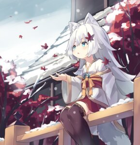 Rating: Safe Score: 26 Tags: animal_ears fujii_shino japanese_clothes tail thighhighs User: sym455