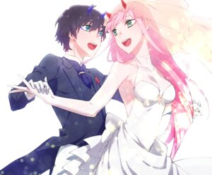 Rating: Safe Score: 14 Tags: cleavage darling_in_the_franxx dress hiro_(darling_in_the_franxx) horns leje39 wedding_dress zero_two_(darling_in_the_franxx) User: 川俣慎一郎