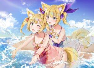 Rating: Safe Score: 31 Tags: animal_ears cleavage kitsune tail yayoichi_(yoruyoru108) User: Nepcoheart