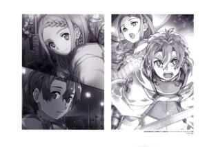Rating: Safe Score: 11 Tags: abec armor monochrome sword sword_art_online User: drop