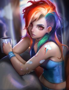 Rating: Safe Score: 46 Tags: anthropomorphization autographed my_little_pony rainbow_dash sakimichan tattoo User: tapoutlacie