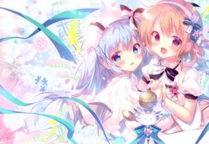 Rating: Safe Score: 40 Tags: dress gochuumon_wa_usagi_desu_ka? hoto_cocoa kafuu_chino mitsumomo_mamu tippy_(gochuumon_wa_usagi_desu_ka?) User: kiyoe