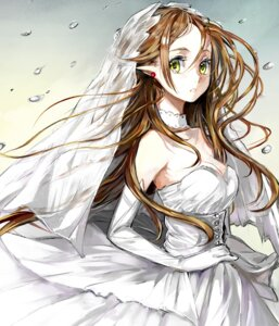 Rating: Safe Score: 26 Tags: cleavage douremi dress elf pointy_ears wedding_dress User: charunetra