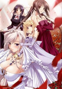 Rating: Questionable Score: 58 Tags: charlotte_hazelrink cleavage dress fujikura_yuu komori_kei princess_lover! seika_houjouin sylvia_van_hossen User: YamatoBomber