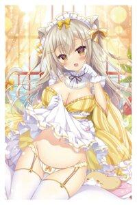 Rating: Questionable Score: 40 Tags: animal_ears cleavage maid neko nekomimi pantsu picpicgram skirt_lift tail User: hiroimo2