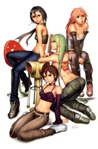 Rating: Safe Score: 57 Tags: capcom cleavage crossover dark_stalkers final_fight kasugano_sakura kazama_akira morrigan_aensland poison rival_schools saejin_oh street_fighter User: eridani