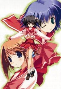 Rating: Safe Score: 9 Tags: komaki_manaka mitsumi_misato seifuku to_heart_2 to_heart_(series) tonami_yuma yuzuhara_konomi User: Kalafina