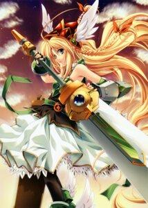 Rating: Safe Score: 41 Tags: dress miyama-zero sword wings User: midzki