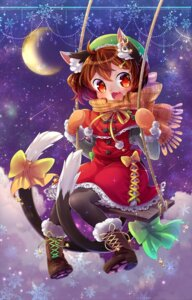 Rating: Safe Score: 16 Tags: animal_ears chen ibaraki_natou nekomimi pantyhose tail touhou User: Mr_GT