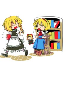 Rating: Safe Score: 5 Tags: alice_margatroid kirisame_marisa pallet shanghai touhou User: konstargirl