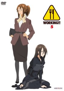 Rating: Safe Score: 9 Tags: adachi_shingo disc_cover pantyhose takanashi_izumi takanashi_kazue working!! User: Radioactive