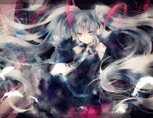 Rating: Safe Score: 46 Tags: hatsune_miku onineko vocaloid User: fairyren