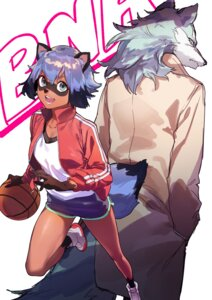 Rating: Safe Score: 5 Tags: animal_ears basketball brand_new_animal gym_uniform kagemori_michiru ogami_shirou reiga00 tail User: Spidey