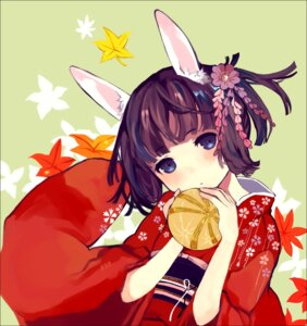 Rating: Safe Score: 30 Tags: animal_ears bunny_ears ted yukata User: Communist