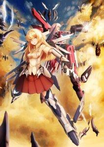 Rating: Safe Score: 17 Tags: armor gun iltusa mecha mecha_musume monster seifuku weapon wings User: syuki144