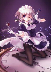 Rating: Safe Score: 43 Tags: izayoi_sakuya maid pantsu pantyhose s-yin touhou User: Tensa