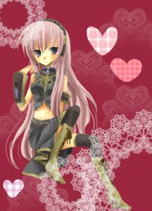 Rating: Safe Score: 3 Tags: kazeto_amane megurine_luka thighhighs vocaloid User: charunetra