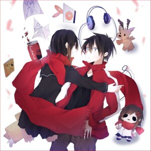 Rating: Safe Score: 10 Tags: headphones kagerou_project kisaragi_shintarou seifuku tagme tateyama_ayano User: charunetra