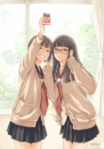 Rating: Safe Score: 60 Tags: kamo megane seifuku sweater User: mash
