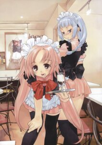 Rating: Safe Score: 11 Tags: hapoi-dokoro megane okazaki_takeshi thighhighs waitress User: Radioactive