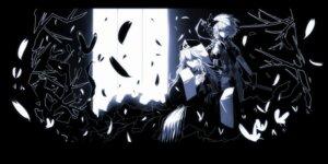 Rating: Safe Score: 16 Tags: konpaku_youmu monochrome saigyouji_yuyuko sword tan_(artist) touhou User: charunetra