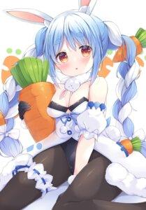 Rating: Safe Score: 20 Tags: animal_ears bunny_ears bunny_girl garter hololive no_bra pantyhose satsuki_yukimi tail usada_pekora User: BattlequeenYume