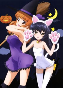 Rating: Safe Score: 38 Tags: animal_ears cleavage cosplay dress girls_und_panzer halloween leotard nekomimi reizei_mako tail takebe_saori thighhighs witch yoshida_nobuyoshi User: drop