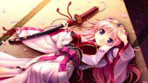 Rating: Safe Score: 44 Tags: asian_clothes august bekkankou miyaguni_akari sen_no_hatou_tsukisome_no_kouki sword wallpaper User: Mr_GT