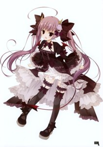 Rating: Safe Score: 47 Tags: ange_vierge dress garter gothic_lolita horns inugami_kira lolita_fashion sofina tail thighhighs wings User: Hatsukoi
