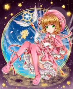 Rating: Safe Score: 28 Tags: card_captor_sakura garter kerberos kinomoto_sakura thighhighs weapon User: saemonnokami