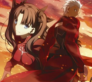 Rating: Safe Score: 34 Tags: archer fate/stay_night takeuchi_takashi toosaka_rin type-moon User: DDD